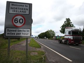 Border between the Republic of Ireland and Northern Ireland