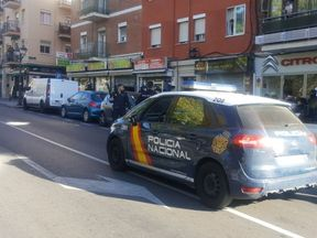 The Bankia branch is in the Madrid suburb of Usera. Pic: Policia Nacional