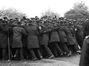 The famous 'Battle of Orgreave' in 1984 - a key moment in the miners' strike