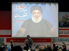 The group's leader said Lebanon was 'strong in the face of any threat'