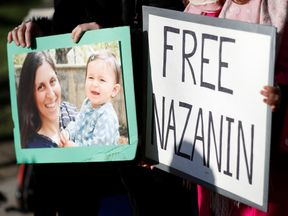 A demonstration in London in support of Nazanin Zaghari-Ratcliffe