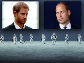 Princes Harry and William join the dark side