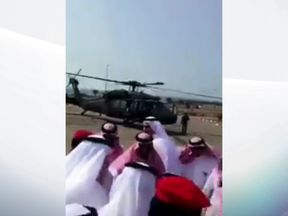 The Saudi prince with other government officials before the helicopter crash