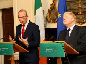 Simon Coveney said Ireland is not ready to let Brexit talks move on to trade