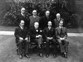 Winston Churchill with his War Cabinet in 1941