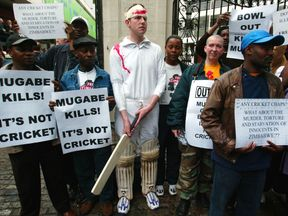Protests over England's tour to Zimbabwe
