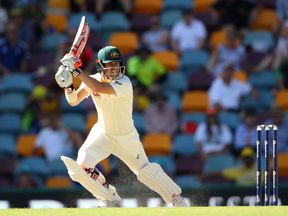 David Warner of Australia bats during day four of the First Test Match of the 2017/18 Ashes