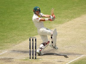 David Warner of Australia bats during day five of the First Test Match of the 2017/18 Ashes Series