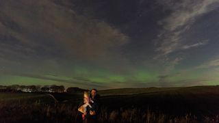 The Northern Lights as seen from the Aberdeenshire town of Inverurie. Pic: Graeme Shinnie