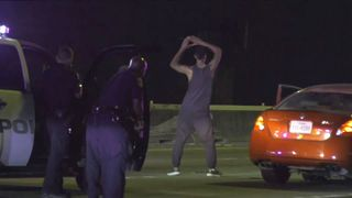 Man dancing during arrest