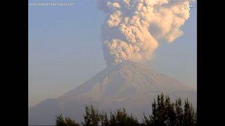 Mexico's Popocateptl volcano, also known as Popo, had three explosive eruptions