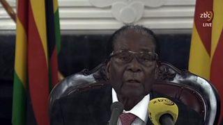 Mugabe did not announce his resignation