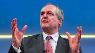 Paul Polman, chief executive officer of Anglo–Dutch multinational consumer goods company Unilever, addresses delegates at the annual Confederation of British Industry (CBI) conference in central London on November 19, 2012.