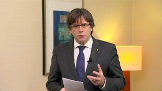 Appearing on Belgian TV, Mr Puigdemont said he 'will not run from justice'