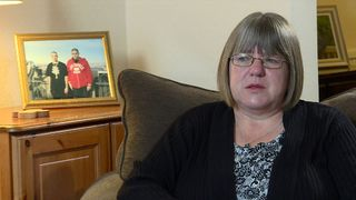 Sally Evans whose son Thomas died in Kenya fighting for Islamist militant group al Shabab