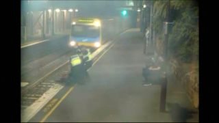 A woman is pulled from the tracks in Melbourne