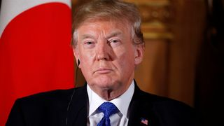 President Trump addressed the Texas mass shooting during a news conference in Japan