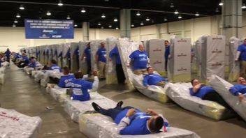 Mattress dominoes - just one of the many eccentric records officially adjudicated by Guinness World Records