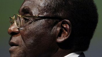 FILE PHOTO - File photo of Zimbabwean President Mugabe addressing the inaugural session of the World...