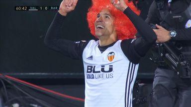 Rodrigo celebrates crucial Valencia goal