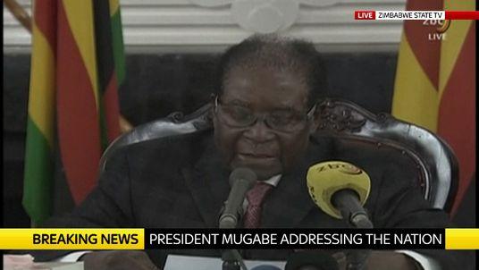 Robert Mugabe announces his resignation