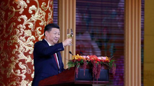 Xi Jinping toasting Donald Trump during Asia trip