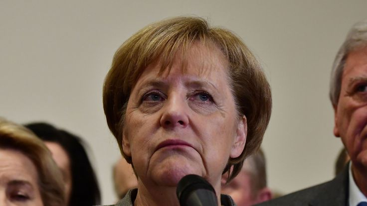 Mrs Merkel has hit a major setback in securing herself a fourth term