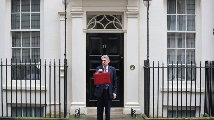Philip Hammond holds the Budget Box