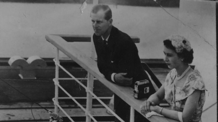 December 1953 The Queen and Prince Philip peered over the railings of the SS Gothic in the Panama Canal during their Commonwealth tour