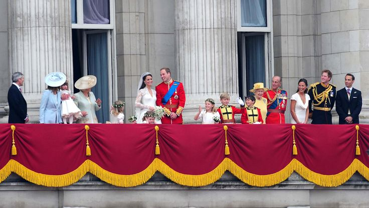 April 2011: The Queen and Prince Philip appeared on the Buckingham Palace balcony to celebrate the Duke and Duchess of Cambridge's wedding