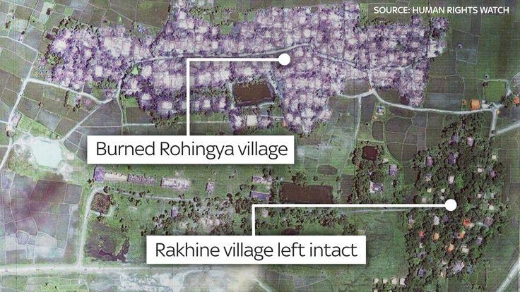 Rohingya village, satellite image