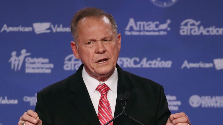 Roy Moore, GOP Senate candidate and former chief justice on the Alabama Supreme Court speaks during the annual Family Research Council's Values Voter Summit at the Omni Shorham Hotel on October 13, 2017 in Washington, DC