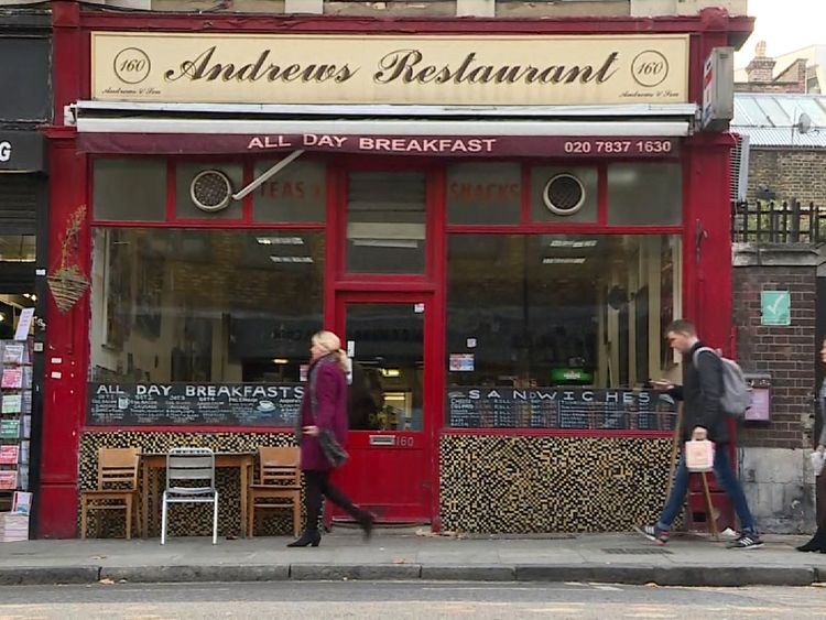 The Andrews Restaurant, which was bugged by police