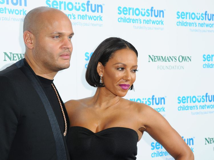 LONDON, ENGLAND - NOVEMBER 04: Melanie Brown and Stephan Belafonte attend the Serious Fun Gala at The Roundhouse on November 4, 2014 in London, England. (Photo by Stuart C. Wilson/Getty Images)