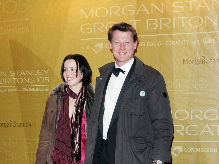 Benedict Allen and guest arrive at the Morgan Stanley Great Britons '05 awards ceremony at the Guildhall on January 26, 2006 in London, England. The second awards ceremony celebrates outstanding British achievement in 2005