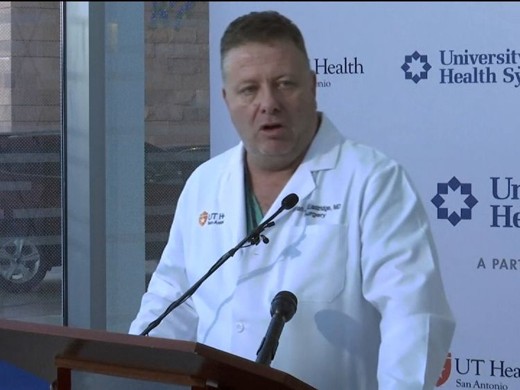 Dr Eastridge said some of the victims are still in a critical condition