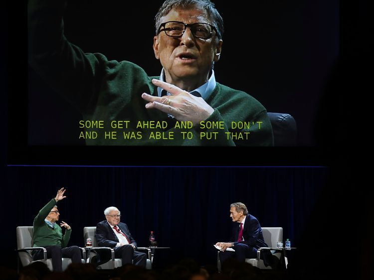 Rose interviewed Bill Gates and Warren Buffett in January 2017