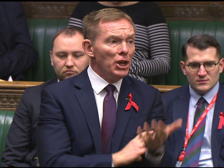 Labour MP Chris Bryant speaks in the Commons