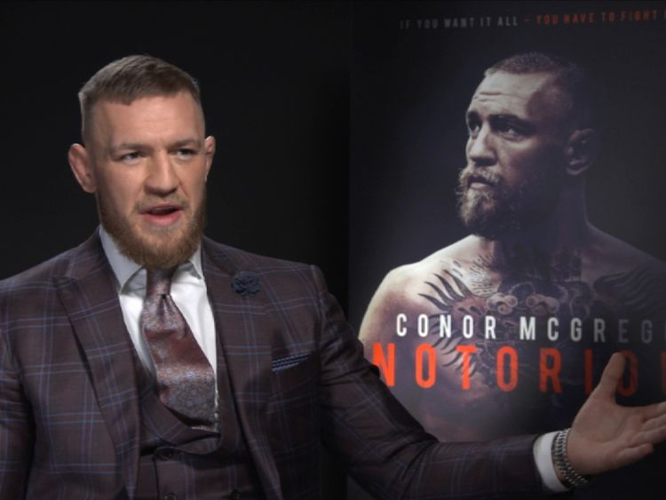Conor McGregor speaking to Sky News