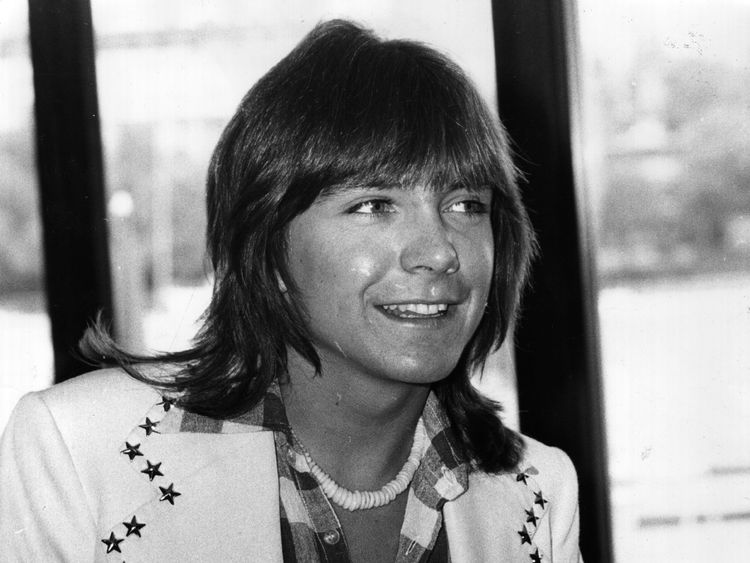 David Cassidy at a press conference in London in 1974