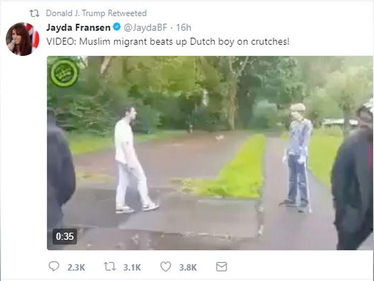 Trump retweets anti-Muslim Britain First posts