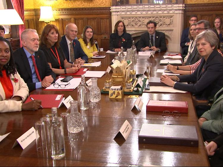 Party leaders meet in Downing Street to discuss sexual harassment