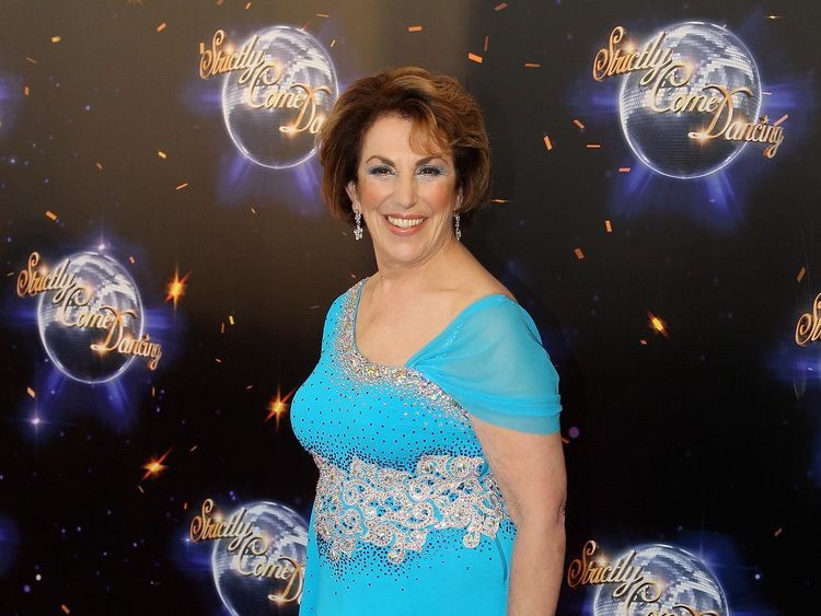 LONDON, ENGLAND - SEPTEMBER 07: Edwina Currie arrives at the Strictly Come Dancing 2011 press launch at BBC Television Centre on September 7, 2011 in London, England. (Photo by Chris Jackson/Getty Images)
