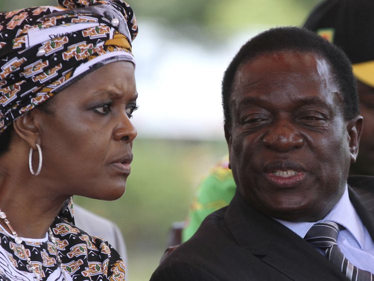 President Robert Mugabe's wife Grace Mubage and sacked vice-president Emmerson Mnangagwa