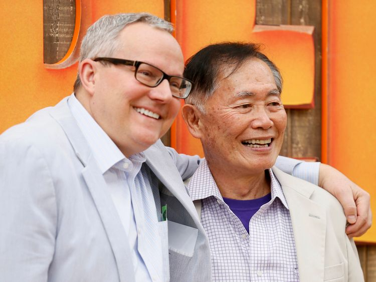 George Takei (R) and husband Brad Altman