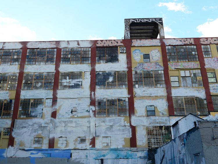 Art on the 5Pointz building was whitewashed in 2013 before its demolition