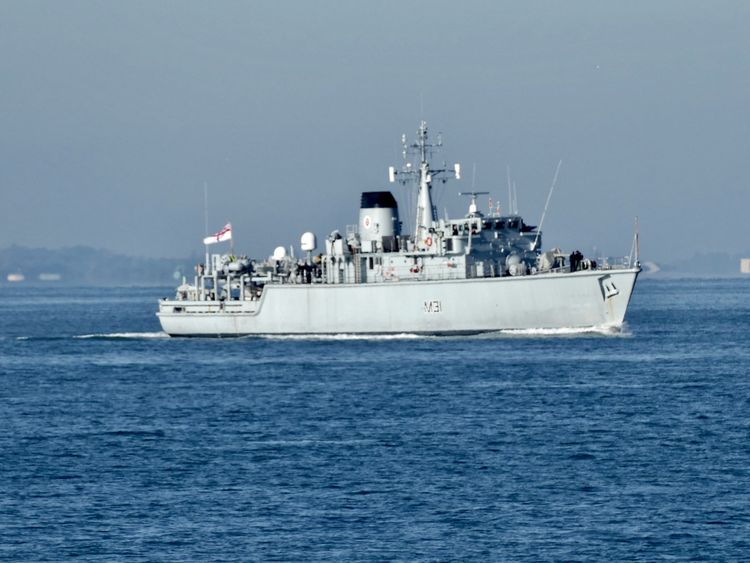 Divers aboard the HMS Cattistock were deployed to retrieve the bomb. Pic: Les Chatfield