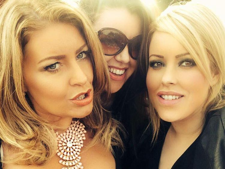 Laura Plummer is being detained in Egypt after entering the country with painkiller tramadol in her suitcase - jayne Synclair , laura in the middle with the sun glbades on and rachel plummer on the right