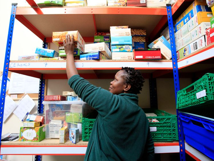 Michele Lawrence at the Trussell Trust Brent Foodbank in Neasden, London