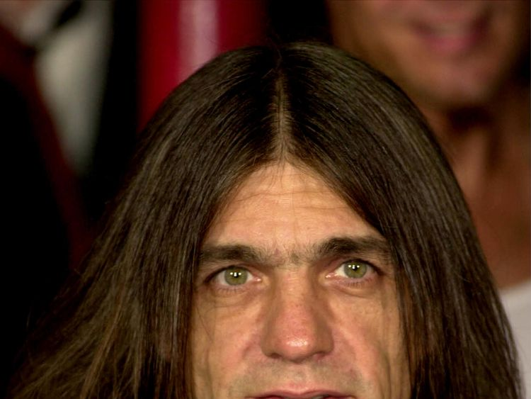 Malcolm Young was honoured on the Rock Walk in 2000
